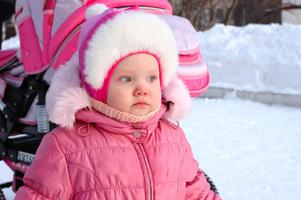 Dětský kočárek na zimu