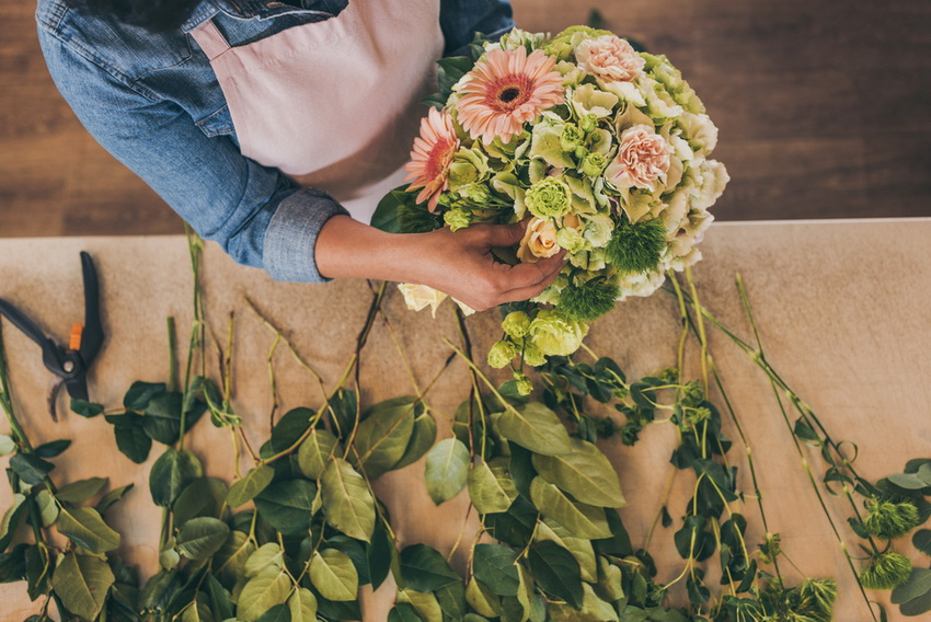 Florista, vazba květin